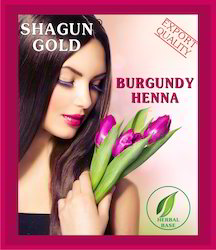Hair Dye Burgundy Powder
