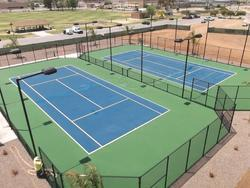 Blue And Green Asian Flooring Sports Courts Flooring