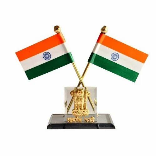 Indian National Flag Office Amp Car Dashboard Satyamev