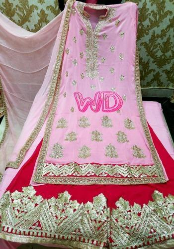 Stiched Pink Designer Suit
