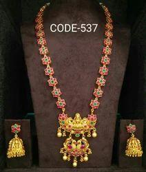 Manek Ratna Jhumka Temple Jewellery Kemp Earrings, Rs 395