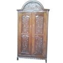 Brown Hinged Ace Wood Crafts Wooden Handmade Traditional Almirah, For Home, Number Of Doors: 2