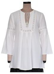 Annthea White Georgette Top EGT059A