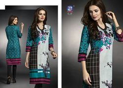 Regular Digital Printed Cambric Cotton Printed Kurtis
