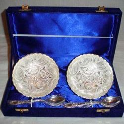 Silver Bowls With Tray