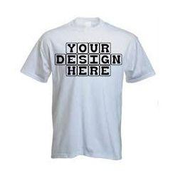 Round Neck Cotton T-Shirt Printing, Size: Small, Medium, Large, XL