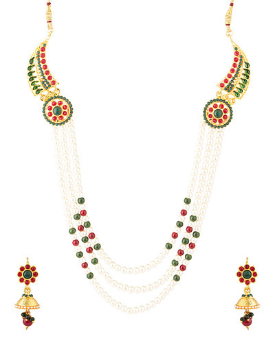 f7511aca2edd Jewellery Sets - Endearing Necklace Set Embellished With Pearls And ...
