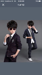 Jaquard Fabric For Kids Blazer Special Ethinic Were