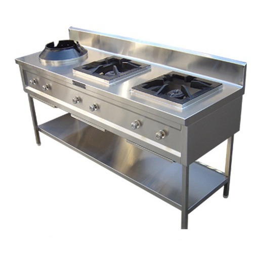 Sons Three Burner Chinese Cooking Stove