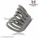 Silver Pave Diamond Ring