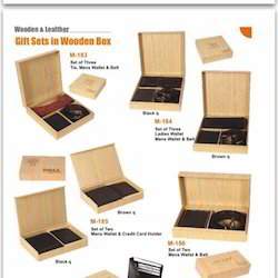 Brown Wooden Gift Sets