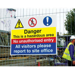 Rectangular Flex Safety Signage Board, For Industrial