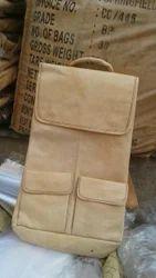 Leather Off White Shoulder Back Pack