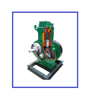 Diesel Engine Working >> Cut Sectional Working Engine Model Four Stroke Diesel Engine Cut