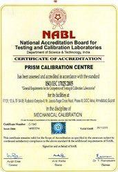 NABL-Mechanical Certificate