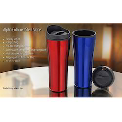 Alpha Coloured Steel Sipper