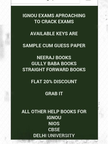 sample paper for ignou at rs 250 piece model question papers id