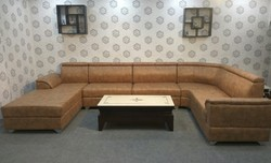 Brown U Shape Sofa