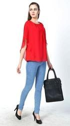 Red Summer Designer Tops