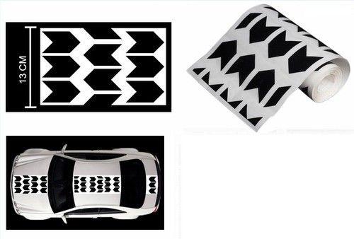 Speedwav car racing stripe graphic sticker black arrow hyundai accent