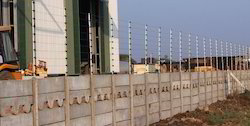 Silver Electric Security Fence