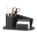 Black Leather Table Top Pen Stand, For Corporate Gift