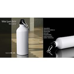 White Sipper Bottle with Carabiner