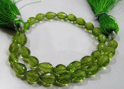 Natural Peridot Teardrops Faceted Beads