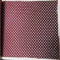 Maroon Plain Mesh Fabric