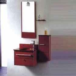 glass vanity cabinet