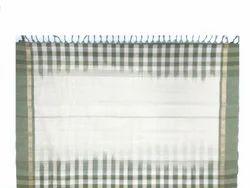 Plain with Checked Handloom Sarees