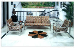 Decorative Stainless Steel Decorator Sofa, For Home, Living Room