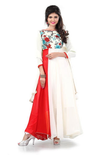 429405b03f0e Fancy Red and White Anarkali Suit at Rs 590  piece(s)