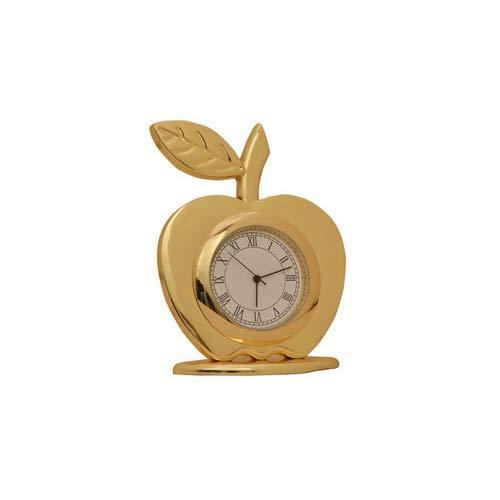 Apple Gold Small Table Clock