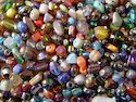 Af Round Mixed Glass Beads Frosted
