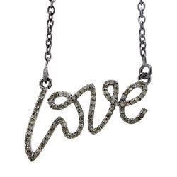 Diamond Pave LOVE Pendant Necklace