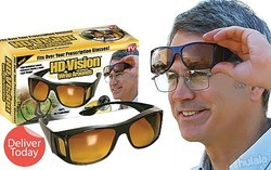 HD Vision Night Driving Wrap Arounds UV400 Protection Fits
