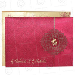 Paper Pull-Out Insert Designer Wedding Card, Size: 4.5-inch-by-6.25-inch