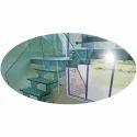 Transparent Starir Glass Bend