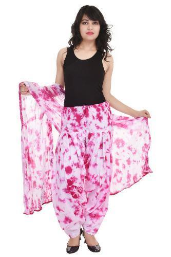 85e9f2e1ee Cotton Floral Print White And Pink Patiala Salwar With Dupatta, Rs ...