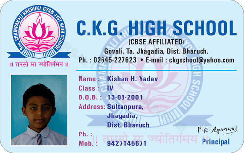 student id cards at rs 35 piece school card school id school
