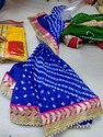 Bandhani Dupatta With Gota Patti Border
