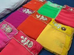 Marbel Dyed Saree