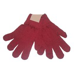 Red Knitted Hand Gloves