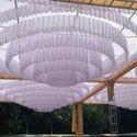 White Ceiling Round Shamiyana