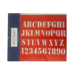 Many Colors Are Available Alphabet Hobby Stencil