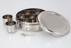 Silver Stainless Steel Spices Tin