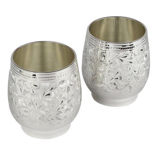 Silver Plated Brass Glass