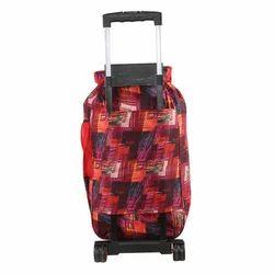 Red & Black Wheeled Trolley Multipurpose Shopping Bag
