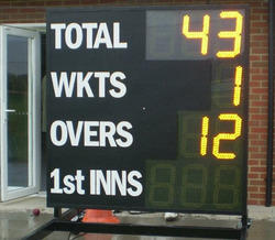 Wireless 9 Digit Electronic Cricket Scoreboard